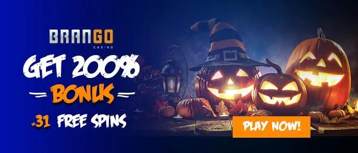 Casino Brango 200% Match plus 31 FREE Spins Exclusive Halloween Offer