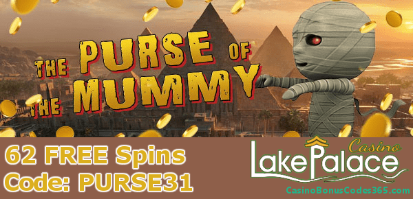 Lake Palace 62 Free The Purse Of The Mummy Spins Casino Bonus
