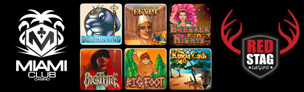 Miami Club Casino and Red Stag Casino 6 New Mobile Games