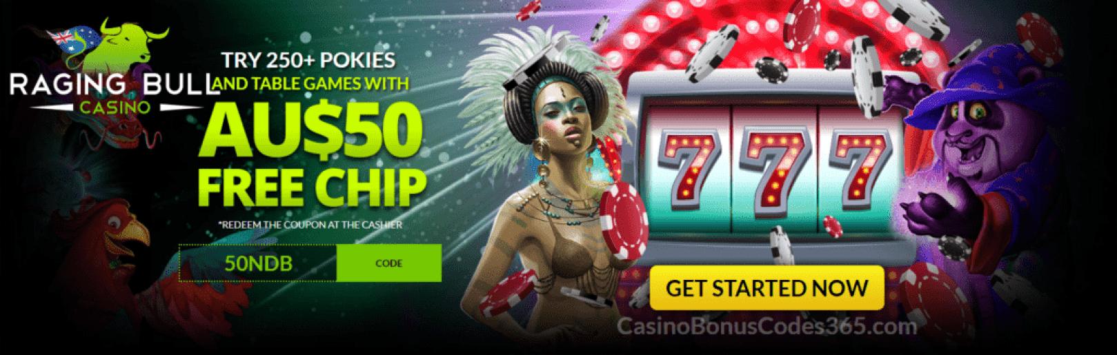 Raging Bull Casino $50 Welcome FREE Chip