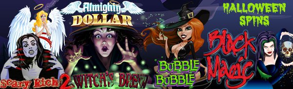 SlotoCash Casino, Uptown Aces, Uptown Pokies, Fair Go Casino, Red Stag Casino, Desert Nights Casino and Slots Capital Online Casino Halloween Spins Offer