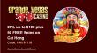 Grande Vegas Casino 25% up to $100 plus 50 FREE Cai Hong RTG Spins Special Promo