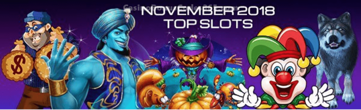 Top Slots in November 2018 by Spins
