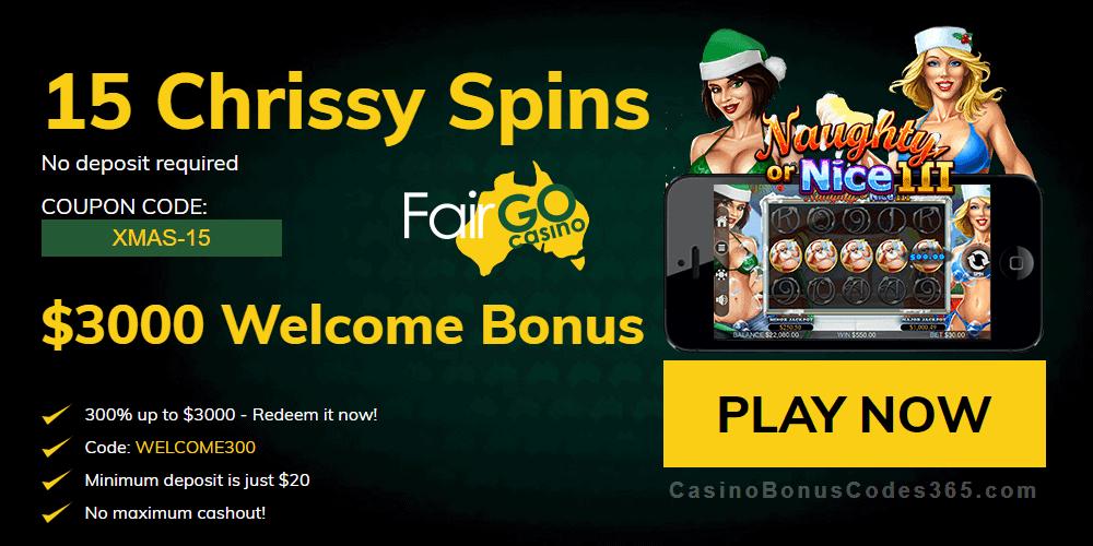Fair Go Casino Chrissy Pressies Casino Bonus Codes 365