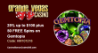 Grande Vegas Casino 25% up to $100 plus 50 FREE RTG Gemtopia Spins Special Offer