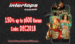Intertops Casino Red 150% up to $600 Exclusive December Deal