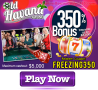Old Havana Casino 350% Match Bonus