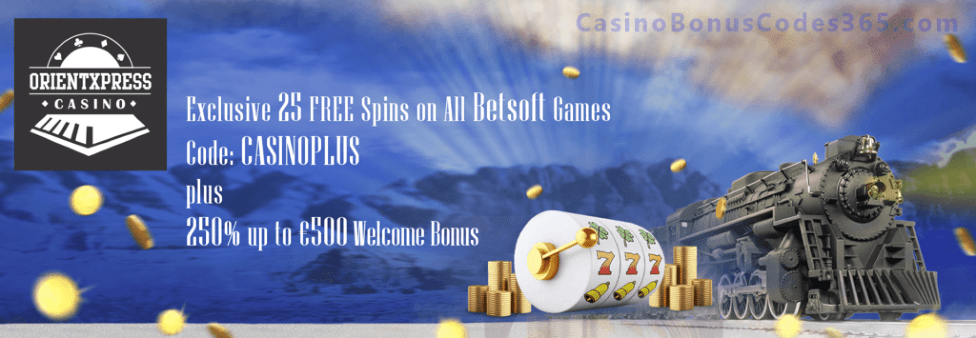 OrientXpress Casino Exclusive 25 FREE Spins plus 250% Match Welcome Bonus