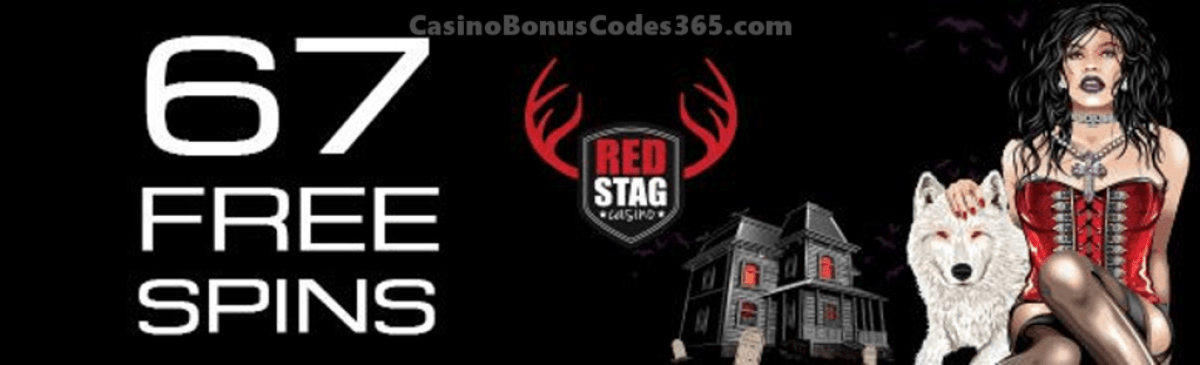 Red Stag Casino 67 FREE Vampire Vixen Spins Holiday Deals