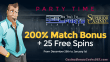 Superior Casino Special 200% Match plus 25 FREE Spins New Year Promo Reel Party Platinum
