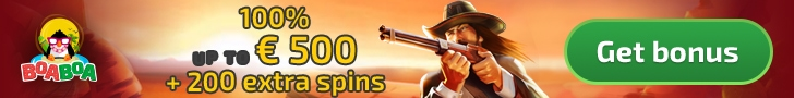 BoaBoa Casino 100% Match Bonus plus 200 FREE Spins Welcome Package