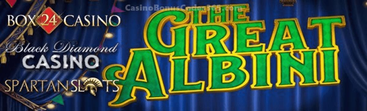 Spartan Slots Box 24 Casino Black Diamond Casino Microgaming The Great Albini