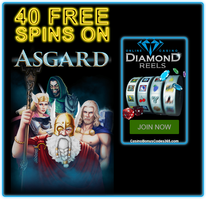 Diamond Reels Casino Exclusive 40 FREE Asgard Spins
