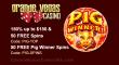 Grande Vegas Casino New Game RTG Pig Winner 150% Bonus plus 100 FREE Spins