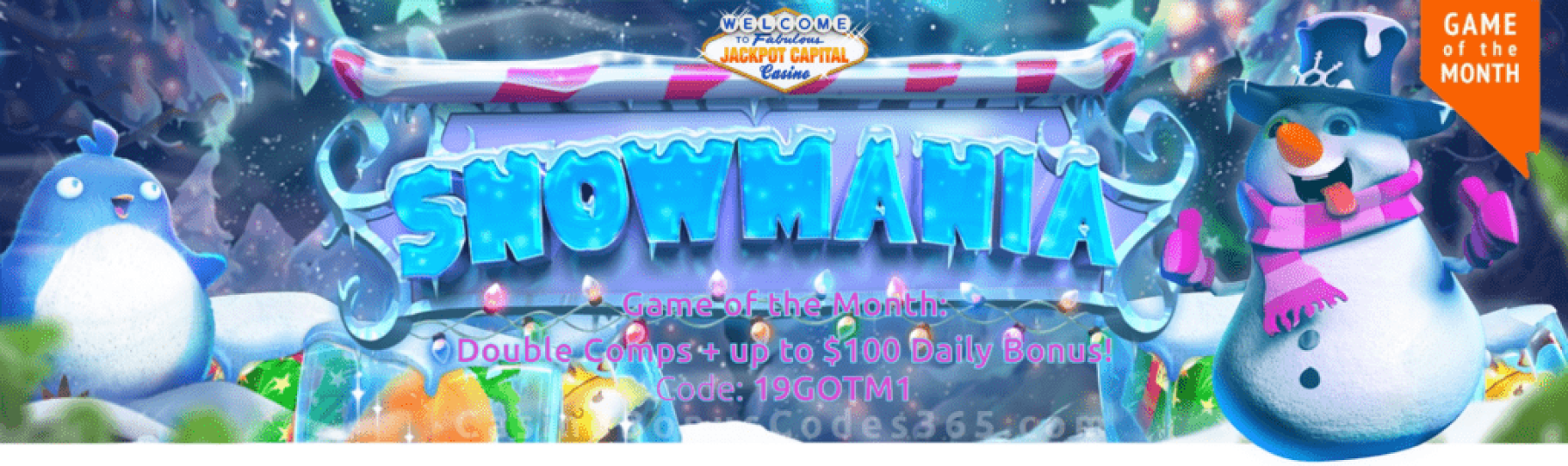 Jackpot Capital January Game of the Month RTG Snowmania