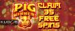 Kudos Casino New RTG Game 35 FREE Pig Winner Spins