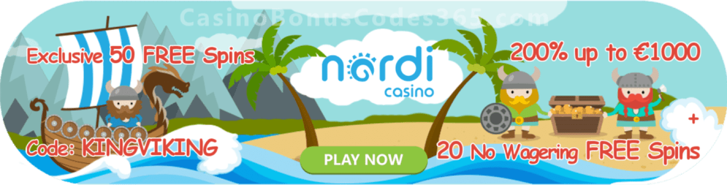 Nordicasino Exclusive 50 FREE Spins Welcome Offer