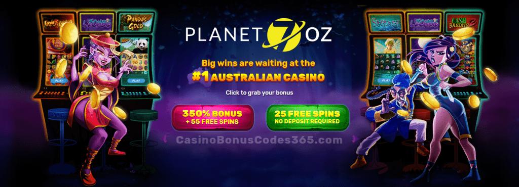 Planet 7 Oz Casino 350 Match Welcome Bonus Plus 80 Free Spins