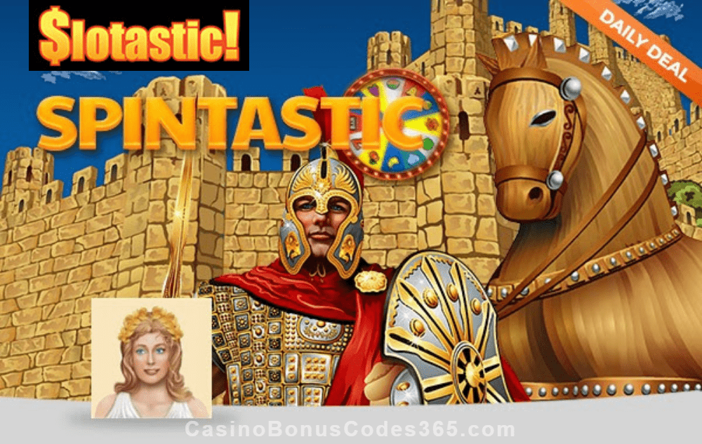 Slotastic Online Casino RTG Achilles Spins January Daily Deal