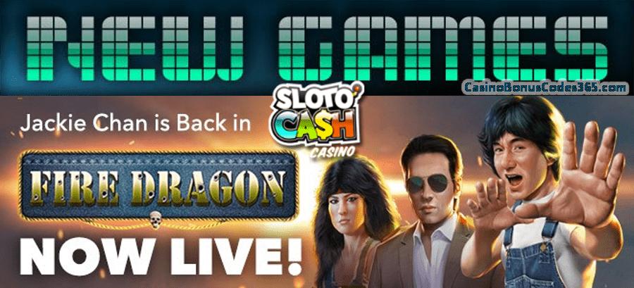 SlotoCash Casino Fire Dragon New RTG Game Promo 111% Bonus plus 111 FREE Spins