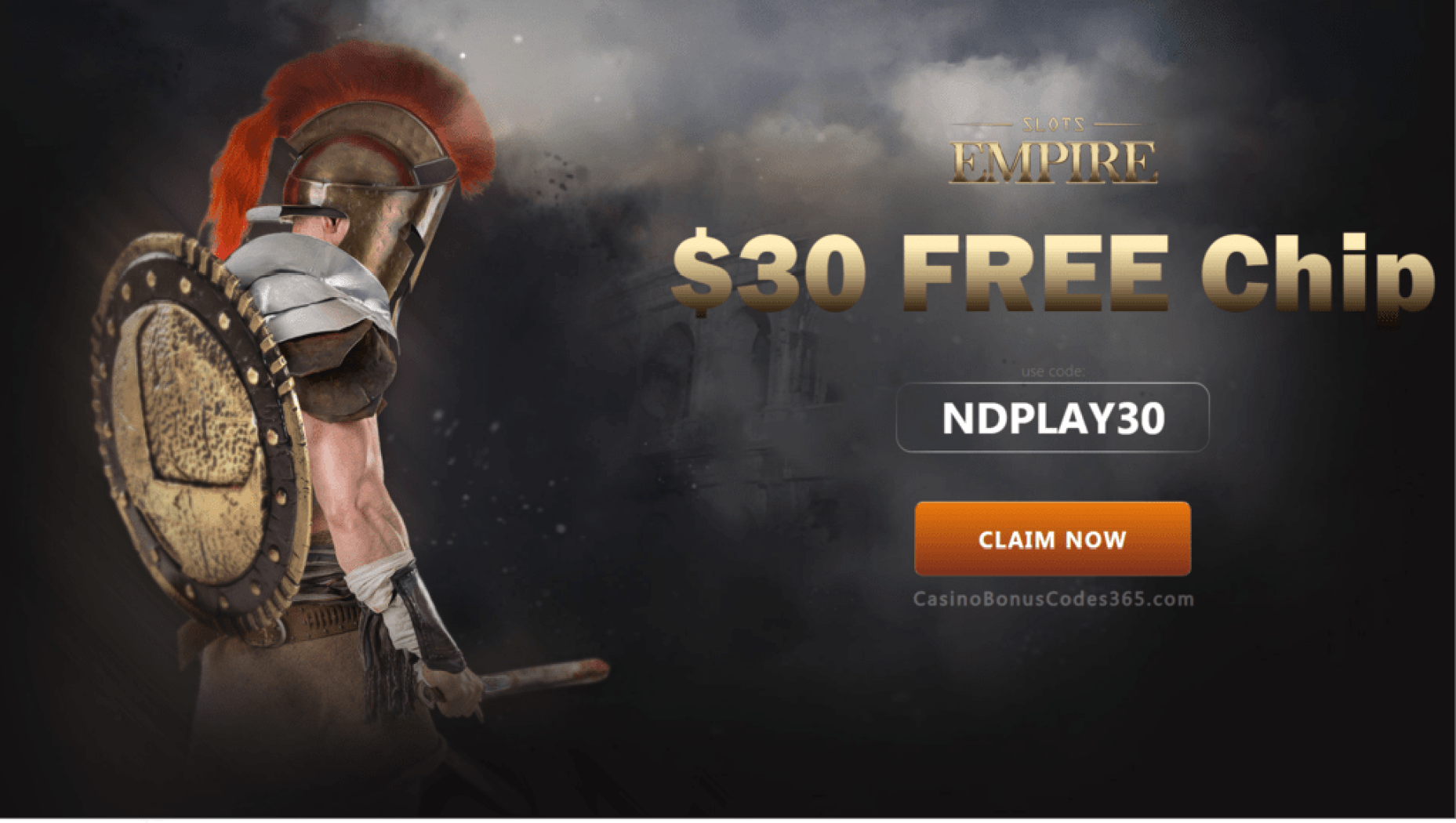 Slots Empire $30 FREE Chip Exclusive Deal