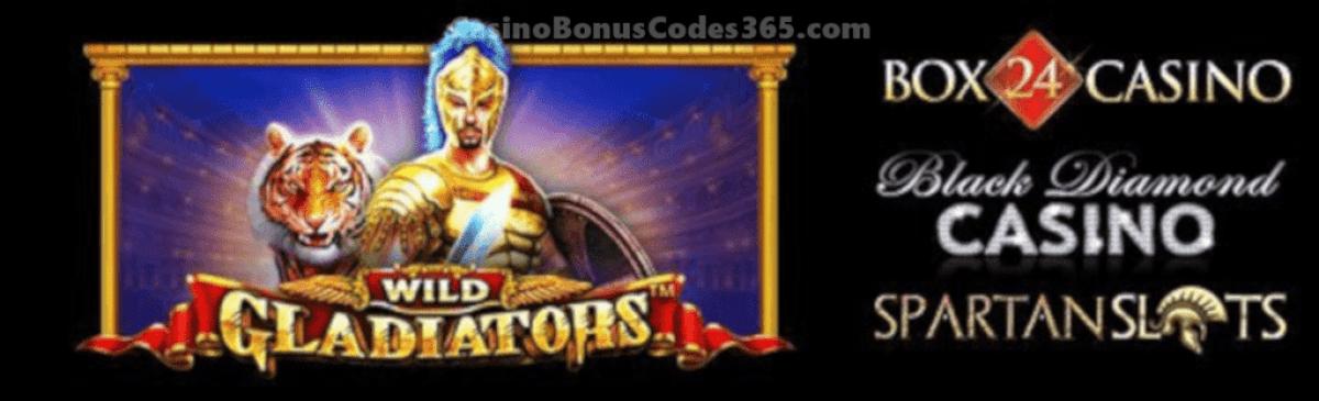 Spartan Slots Box 24 Casino Black Diamond Casino Wild Gladiators Pragmatic Play