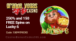 Grande Vegas Casino 250% Bonus plus 150 RTG Lucky 6 FREE Spins St. Patrick's Day Promo