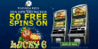 Platinum Reels Exclusive 50 FREE RTG Lucky 6 Spins