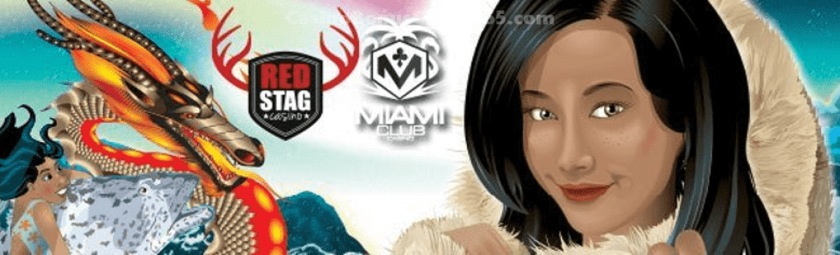 Miami Club Casino and Red Stag Casino 3 New Mobile Games WGS Eastern Dragon, Arctic Queen and Coral Cash