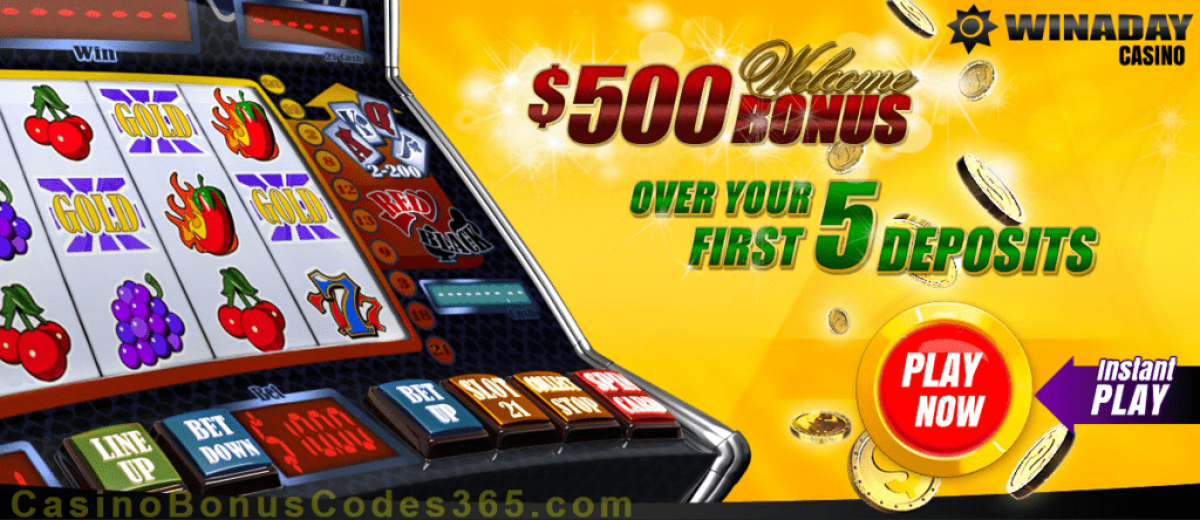 Win A Day Casino $500 Welcome Package