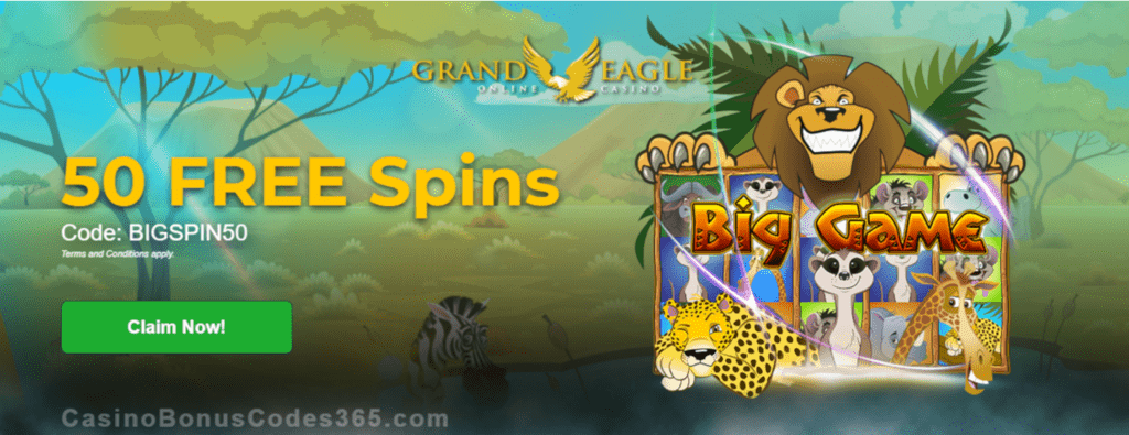 Grand Eagle Casino Exclusive 50 FREE Saucify Big Game Spins