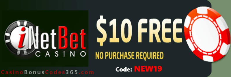 iNetBet Casino $10 Welcome FREE Chip