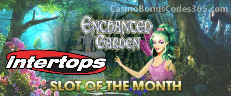 Intertops Casino Red RTG Enchanted Garden April Slot of the Month