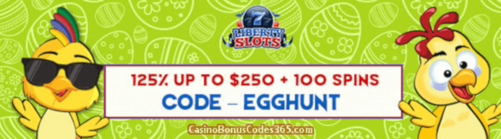 Liberty Slots 125% up to $250 plus 100 FREE Spins on Funky Chicks Special Offer
