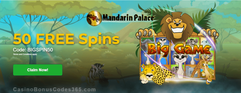 Mandarin Palace Online Casino Exclusive 50 FREE Saucify Big Game Spins