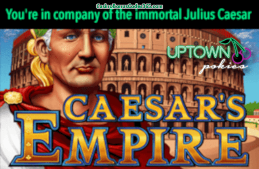 Uptown Pokies Time Travel FREE Spins Pack RTG Caesars Empire Cleopatras Gold Cubee