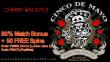 Cherry Jackpot 80% Match Bonus plus 50 FREE Spins Cinco de Mayo Special Promo RTG Lucha Libre 2 Popinata