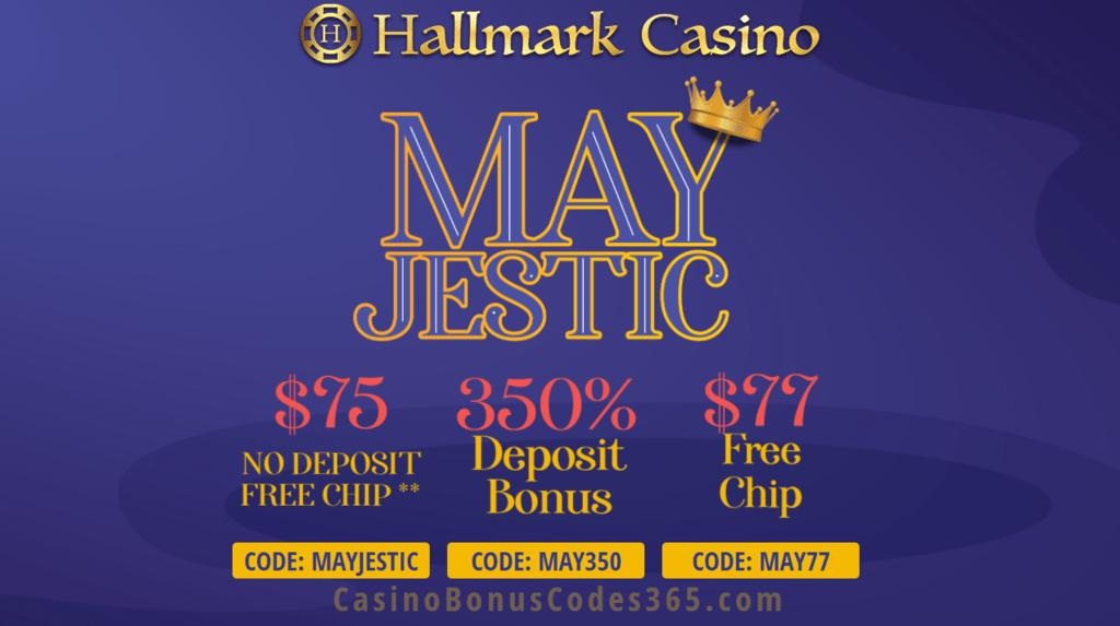 Hallmark Casino Mayjestic 152 Free Chip And 350 Bonus Special