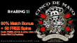 Roaring 21 Cinco de Mayo Special Offer 80% Match Bonus plus 50 FREE Spins RTG Lucha Libre 2 Popinata