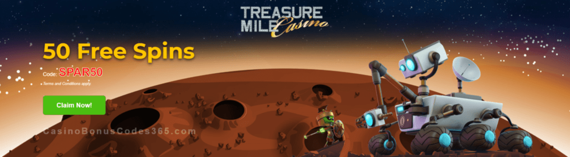Treasure Mile Casino 50 FREE Saucify Spartians Spins Exclusive Offer