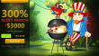 DomGame Casino 300% Match Bonus plus 30 FREE Spins Rival Gaming Party Parrot Independence Day Special Offer