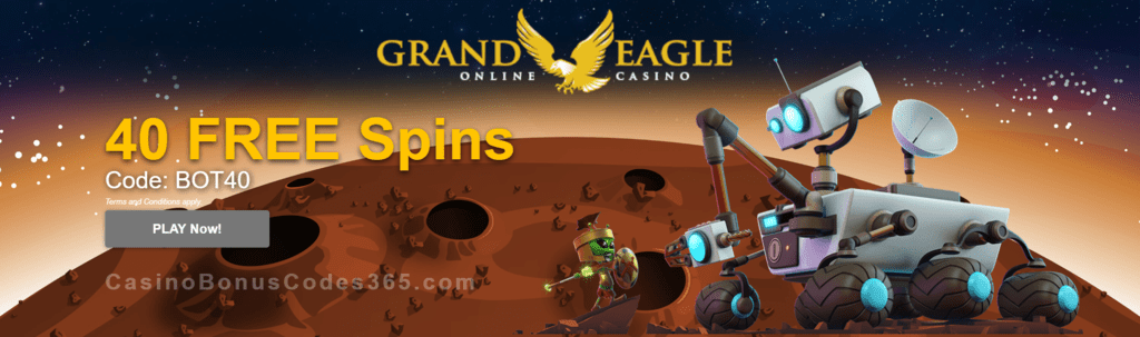 Grand Eagle Casino Exclusive 40 FREE Saucify Spartians Spins