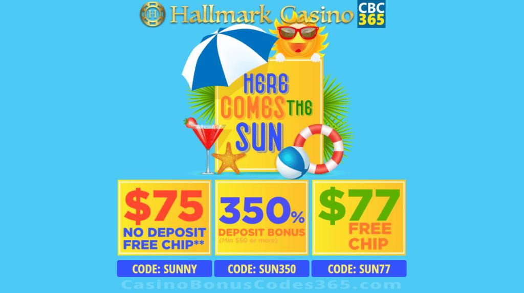 Hallmark Casino Here Comes The Sun 152 Free Chip And 350 Bonus