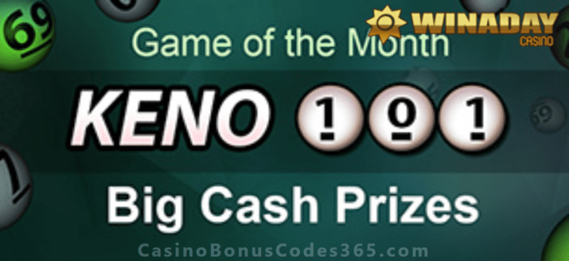 Win A Day Casino Keno 101 June Game of the Month Offer