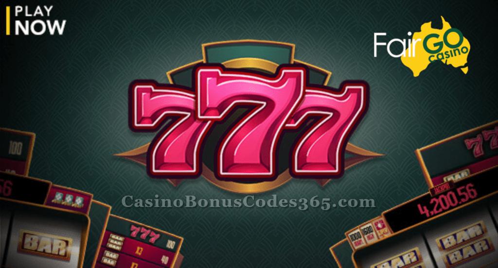Fair Go Casino New Rtg Game 777 Out Now Casino Bonus Codes 365