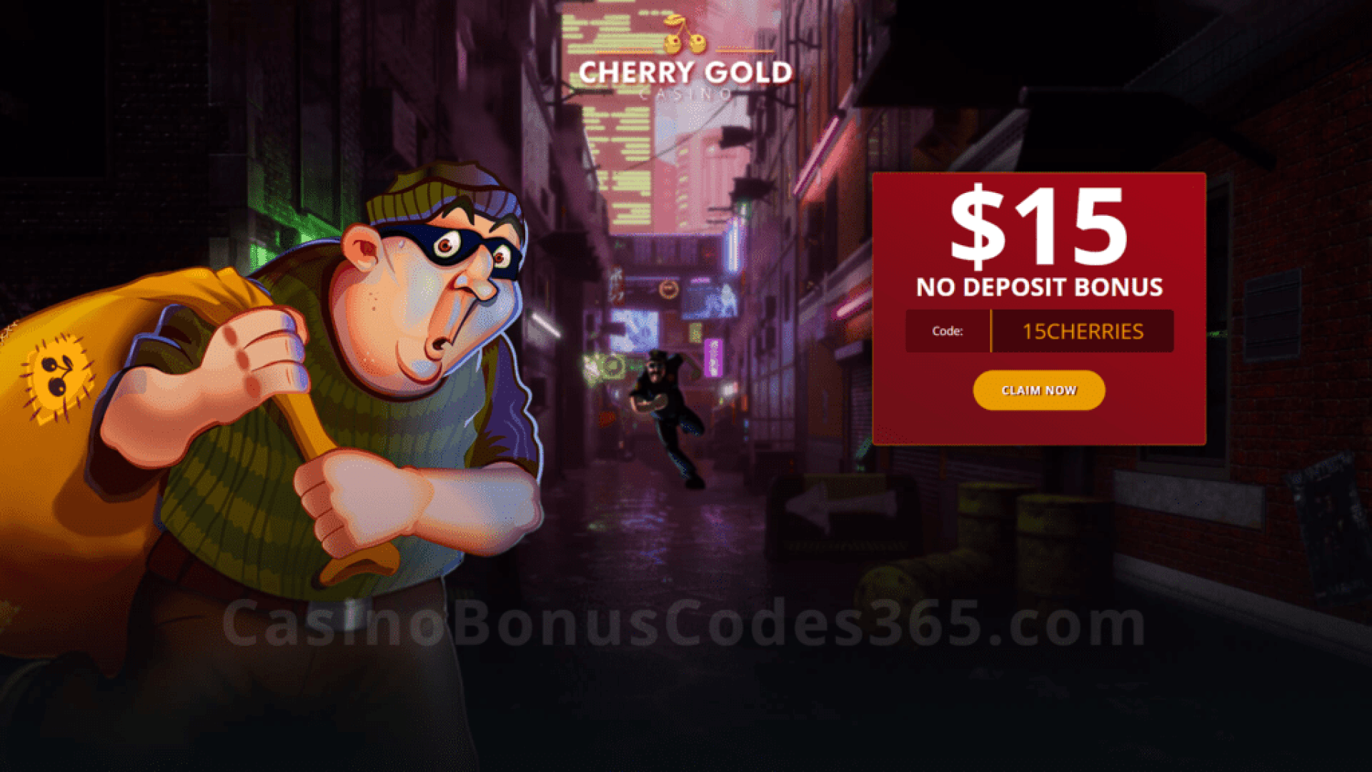 Cherry Gold Casino $15 FREE Chip Special No Deposit Deal