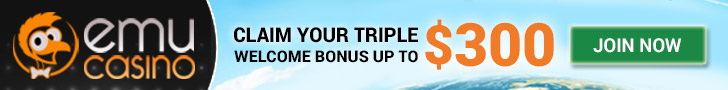 EmuCasino $300 Triple Welcome Bonus