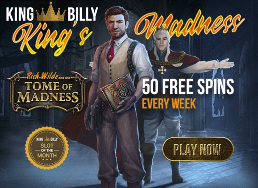 King Billy Casino August Slot of the Month Tome of Madness