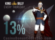 King Billy Casino Thursday 13% Cash Back