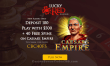 Lucky Red Casino $500 plus 40 FREE RTG Caesar's Empire Spins Exclusive Welcome Pack